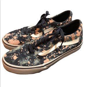 Like New Vans Splatter Sneakers Shoes 6